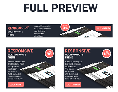 Free PSD And HTML Banner For Theme