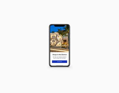 Conceptual UI for Miami Design District Mobile App