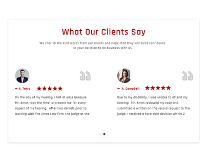 TESTIMONIAL DESIGN LAW AND ORDER