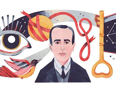 Google Doodle for Vicente Huidobro | Client: Google