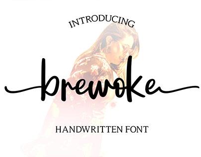 FREE | Brewoke handwritten font