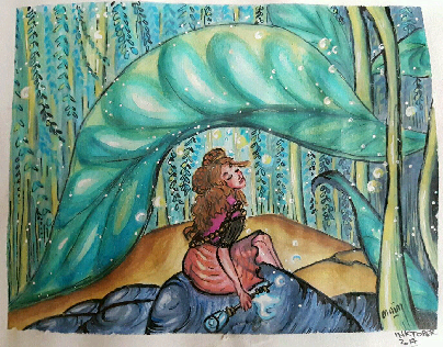 Under the leaves