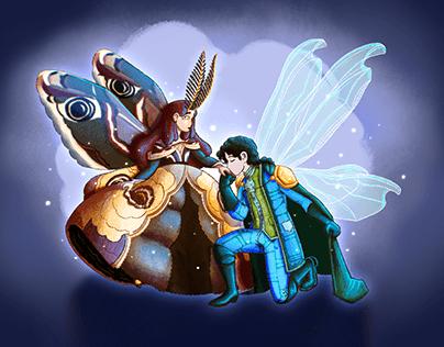 Moth Princess and Dragonfly Prince