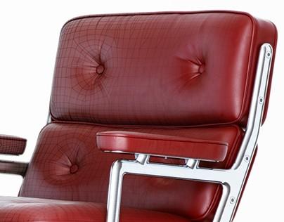 3d model of classics Vitra Lobby armchair