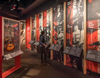Guitar Gallery Exhibit Design