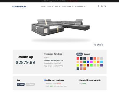 SKM Furniture Website Redesign