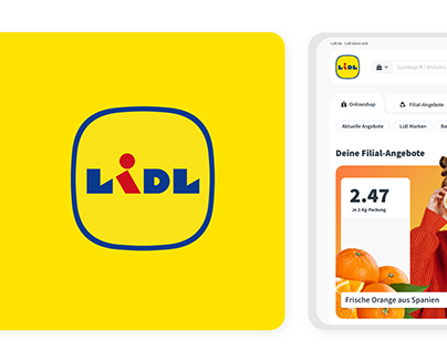 Lidl - Redesign of logo and UI