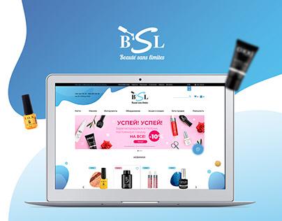 Website of online store BSL