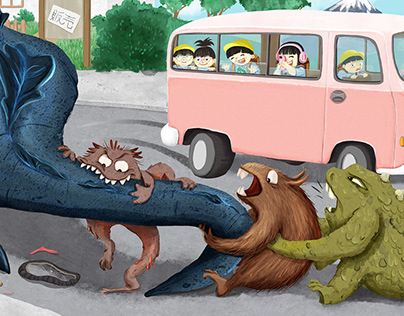Little monsters against godzila