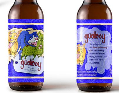 """""""gudboy"""" Wild Ale - Beer Bottle Design - Illustration"""