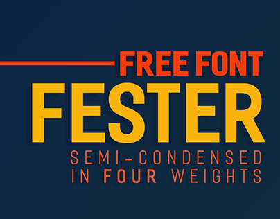 FESTER - Free Typeface