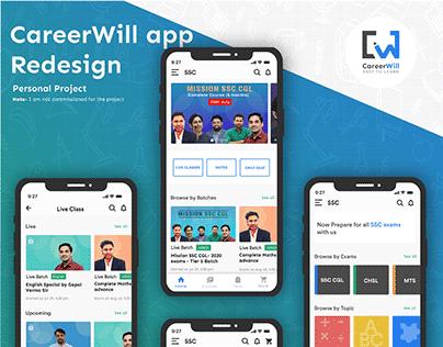 Careerwill app screen redesign