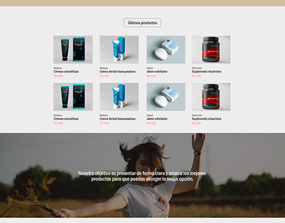 Diseño de sitio web para Marianny Vivas