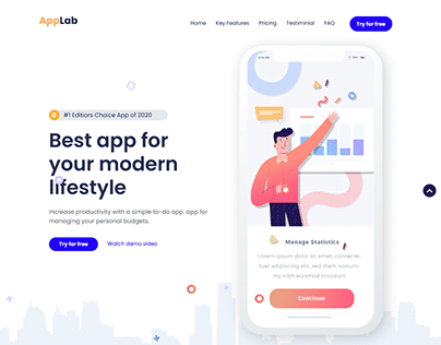 Figma to HTML AppLab Bootstarp4 Responsive Landing Page