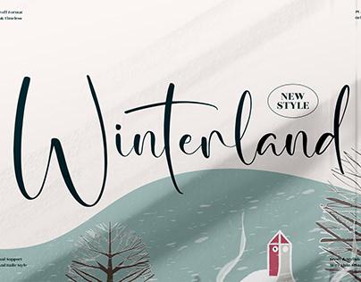 Winterland - Beautiful Script Font