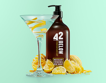 42 Below Recycled Cocktail Lemons Eco Soap