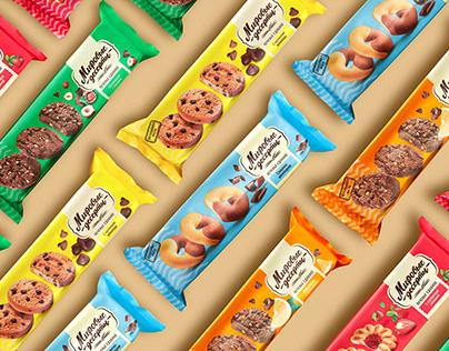 Дизайн упаковки сдобного печенья «Брянконфи»