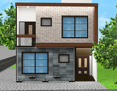 House Exterior Front Elevation