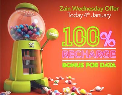 Zain Animation, Happy WednesdayOffers