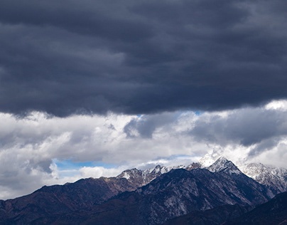 Utah clouds, mountains and sky 2018