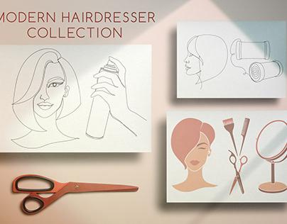 Modern hairdresser collection