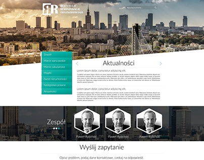 Projekt strony internetowej Rewindykacje.com