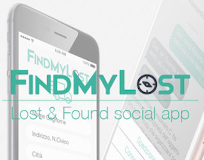 Find My Lost - UI/UX iOS iPhone Smartphone App