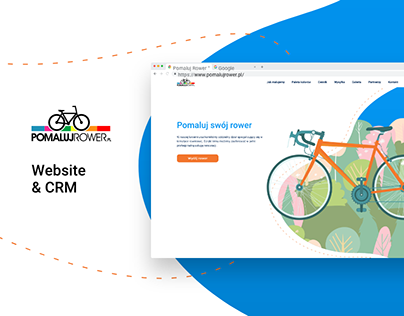Pomaluj rower - UI Design, CRM & Developing