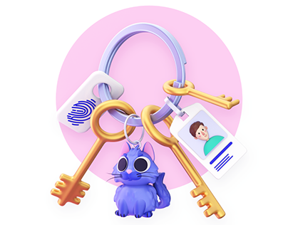 3D Illustrations for the Status App Onboarding