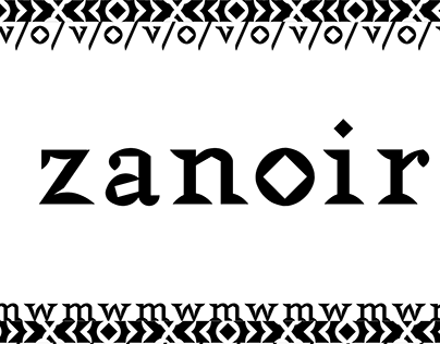 - ZANOIR - Aztec display typeface