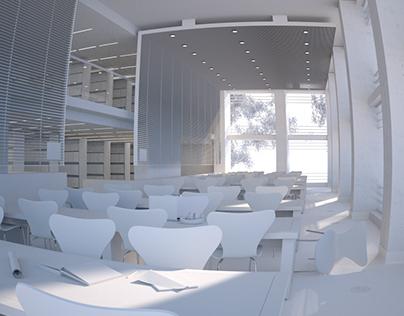 Library interior - work in progress