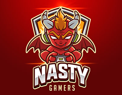 Little Red Devil Gamer Esport Logo