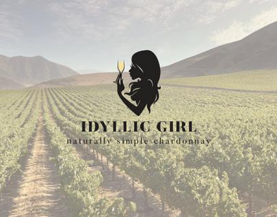 Idyllic Girl Wine Label