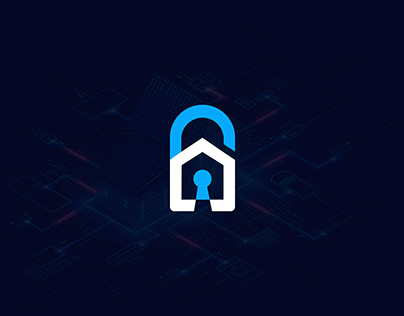 Home Security Logo-Safe Home-Creative Minimalist Logo