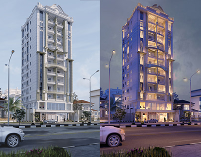Day & Night Residential Building Visualization