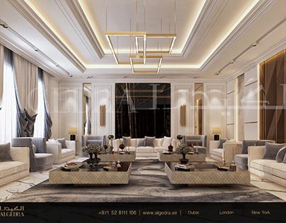 Modern Style Majlis Design by ALGEDRA