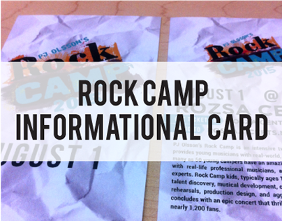 Rock Camp Informational Card