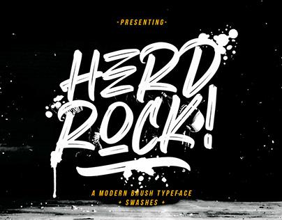 HERDROCK - FREE BRUSH FONT