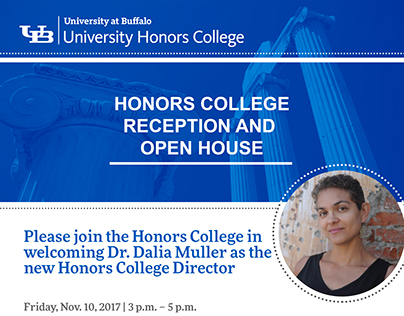 Honors College Reception and Open House Invitation