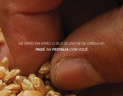 Anúncio Pagé - Festália SC