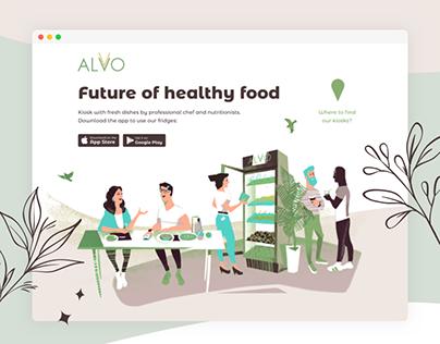 Сайт фудтех-стартапа alvo.co