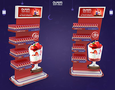 Olpers Cream Launch Display