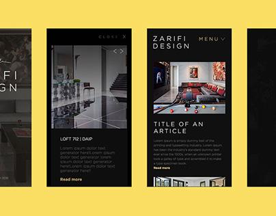 Interior Architect Website Design