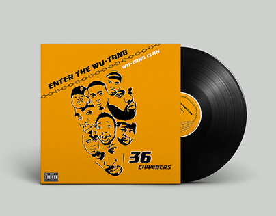LP cover redesign of Wu-Tang Clan 36 Chambers