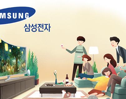 삼성전자 광고 삽화 제작
