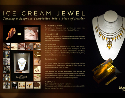 Ice Cream Jewels / Magnum / In Store Design
