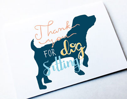 Typographic Greetings Cards