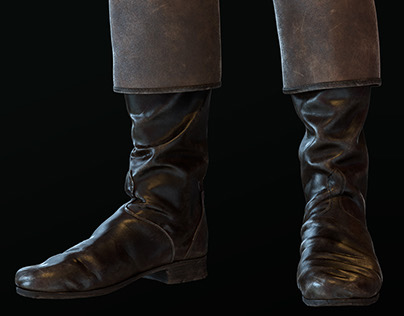 Officer's boots of the 19th century