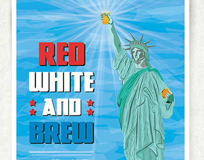 Red White and Brew Posters