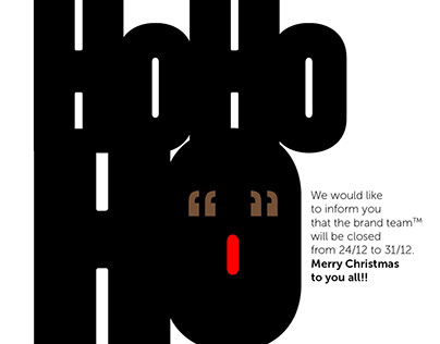 the brand team™ Reindeer XMAS E-CARD HO HO HO